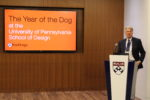 Dean Frederick Steiner delivers the keynote at the PennDesign Alumni Reception in Beijing.